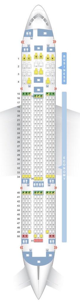 Disposición de asientos del Boeing 787
