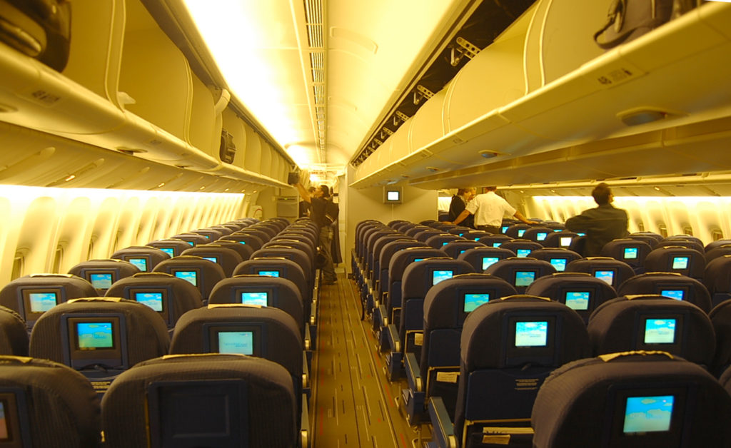 Interior del Boeing 777