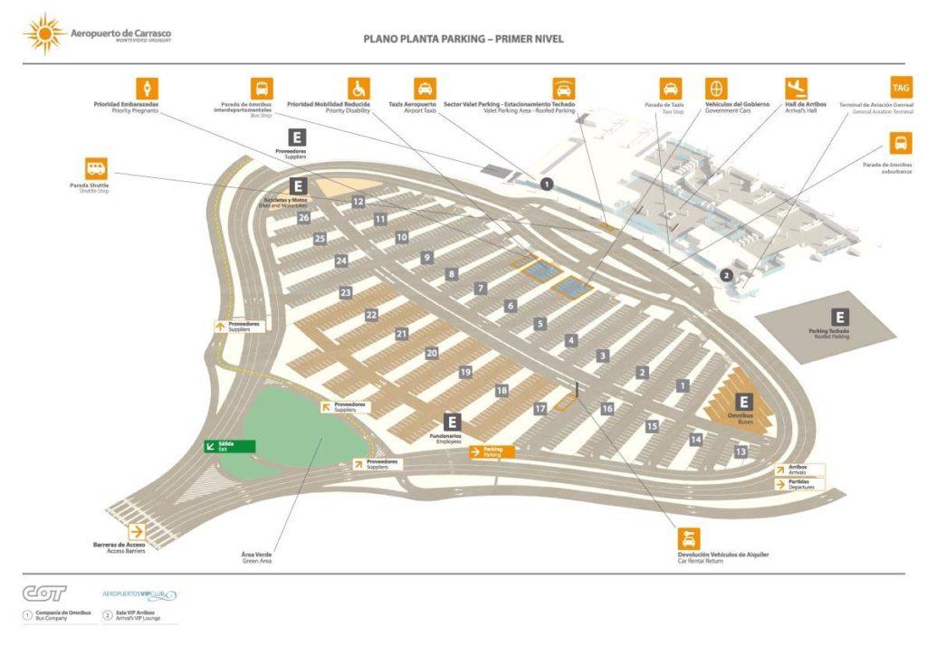 Plano del estacionamiento