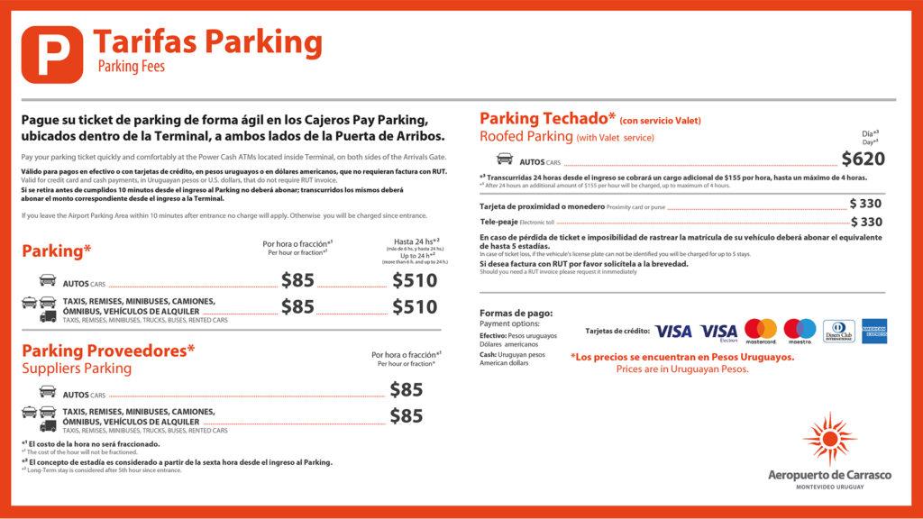 Tarifas de estacionamiento